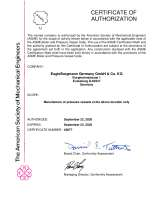 ASME U Designator (american approval of design, manufacturing and testing of pressure equipment and pressured Components)