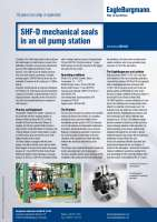 Solution: Mechanical seals SHF-D in an oil pump station